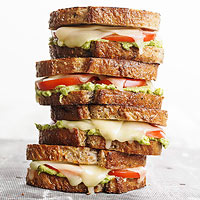Tomato-Avocado Grilled Cheese