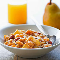Cranberry-Maple Oatmeal with Pears