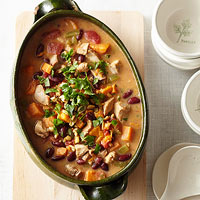 Red Bean, Chicken and Sweet Potato Stew