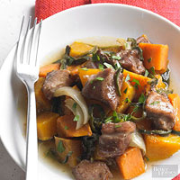 Sugar-Spiced Pork with Squash and Potatoes