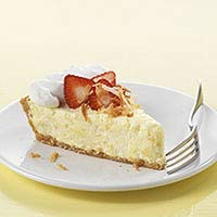 Strawberry-Pina Colada Pie