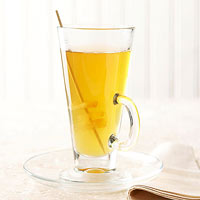 Lemonade Cider with Ginger Swizzle Sticks
