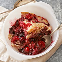 Mixed Berry Pudding Cake