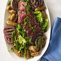 Grilled Steak Salad with Chimichurri Dressing