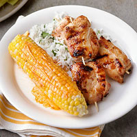 Chicken Churrascada with Grilled Corn and Paprika Butter