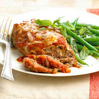 Mini Meat Loaves with Green Beans