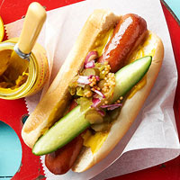 Classic Dogs with Tangy-Sweet Relish