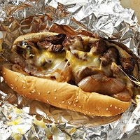 Three-Cheese Philly with Sweet Grilled Onions