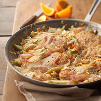 Ginger Chicken and Warm Apple Slaw
