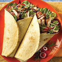 Rustic Balsamic Chicken Wraps