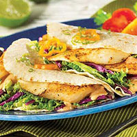 Tilapia Soft Tacos with Chipotle Cream Recipe
