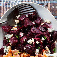 Beet, Blue Cheese, and Almond Salad