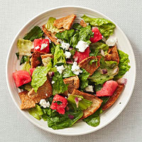 Flatbread Panzanella with Watermelon, Feta, and Mint