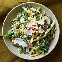 Two-Tone Green Bean Salad with Hazelnuts and Parmesan