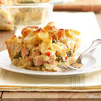 Smoked Chicken and Asparagus Strata