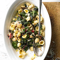 Orecchiette with Ricotta and Chard Pan Sauce