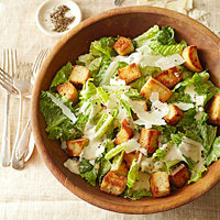 Caesar Salad with Parmesan Croutons