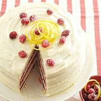 Cranberry-Vanilla Bean Cake with Lemon Cream Cheese Frosting
