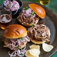 Pulled Pork Sandwiches with Pickled Onion Slaw