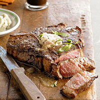 Stout-Soaked Porterhouse with Beer Butter