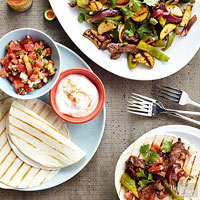 Fall Vegetable Fajitas