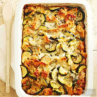 Four-Cheese Zucchini Strata