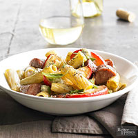 Apple-Sausage Rigatoni 