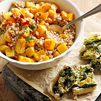 Farro with Roasted Butternut Squash and Calabrian Chilies