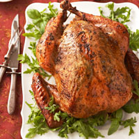Roast Turkey with Arugula-Pesto Rub