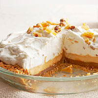 Two-Layer Chocolate Peanut Butter Cream Pie