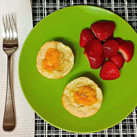 Whole-Grain-Crust Mini Quiches with Berries