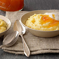 Vanilla Polenta Breakfast Pudding