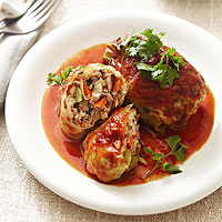 Spicy Asian Pork Cabbage Rolls