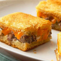 Sausage and Cheese Crescent Squares