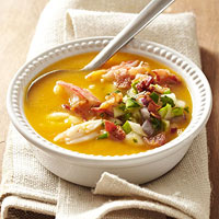 Butternut Bisque with Spicy Pear Salsa