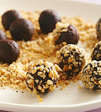 Chocolate-Date Truffles With Walnuts