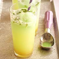 Ginger-and-Mint Lime Floats