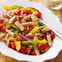 Penne with Walnuts and Peppers