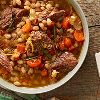 White bean soup with lamb and rosemary