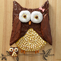 Cute Owl Cake