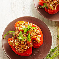 Lentil- and Rice-Stuffed Peppers