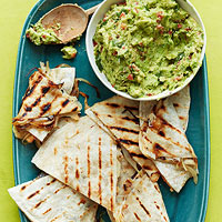 Guacamole with Grilled Quesadillas