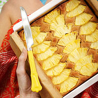 Ginger Pineapple Snack Cake