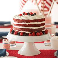 Striped Red Velvet Cake