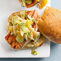 Grilled Fish Sandwiches with Avocado Spread