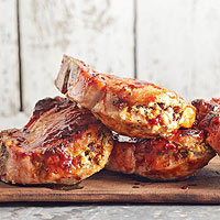 Stuffed Pork Rib Chops
