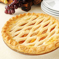 Peach Lattice Pie