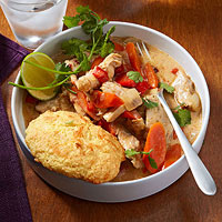 Southwest Chicken Potpie With Cheesy Biscuits