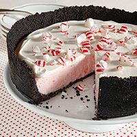 Peppermint and Vanilla Cream Cheesecake