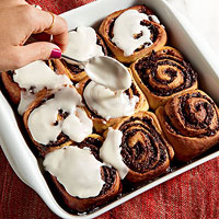 Chocolate-Cinnamon Rolls